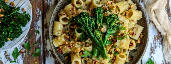 Creamy Tuscan Cannellini Bean Pasta with Tenderstem® broccoli