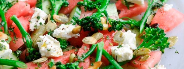 Tenderstem® Broccoli, Watermelon & Feta Salad