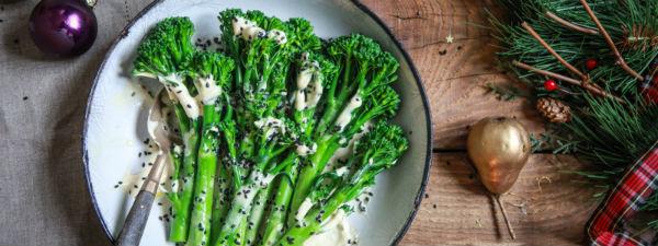 Tenderstem broccoli truffle tahini sauce
