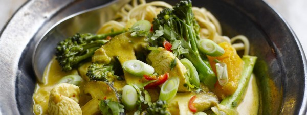 Thai-Style Chicken, Shiitake & Tenderstem® Broccoli with Noodle & Coconut Broth